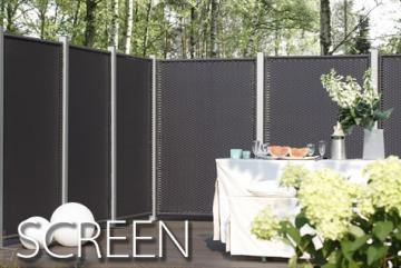 sichtschutzz une und vorgartenz une aus wpc hier. Black Bedroom Furniture Sets. Home Design Ideas