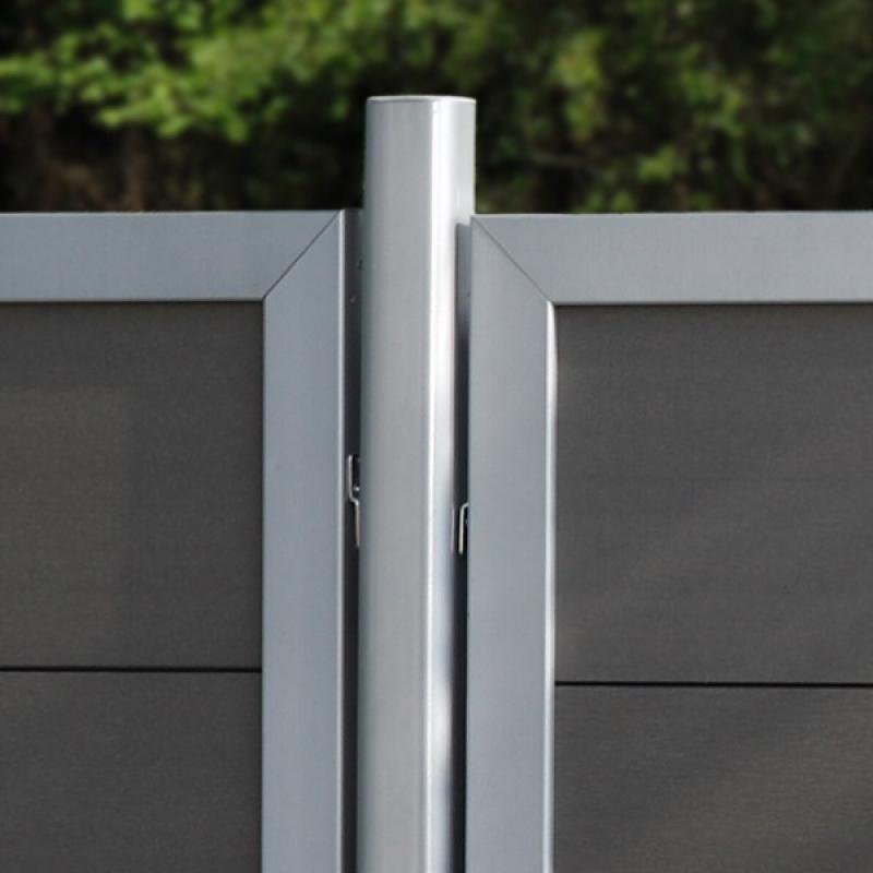 TraumGarten Zaunpfosten Universal Set anthrazit zum Erdverbau - 7 x 7 x 240 cm