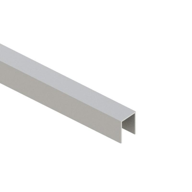 TraumGarten Endprofil System silber - 2 x 173 x 3 cm