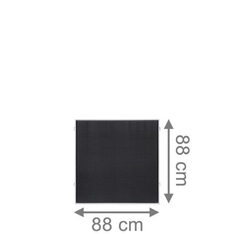 TraumGarten Sichtschutzzaun Weave LÜX Rechteck anthrazit - 88 x 88 cm