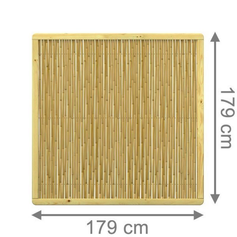 TraumGarten Sichtschutzzaun BAMBU Rechteck naturbelassen - 179 x 179 cm