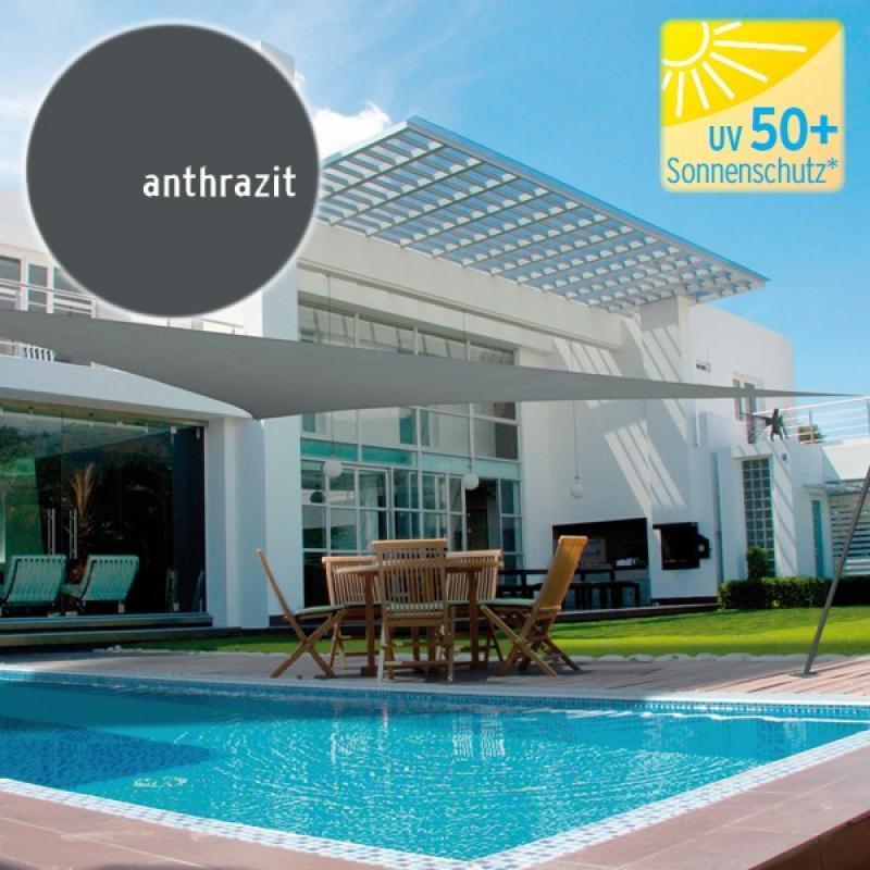 br gmann sonnensegel dreieck 180 g qm anthrazit 500 x 500 x 500 cm. Black Bedroom Furniture Sets. Home Design Ideas