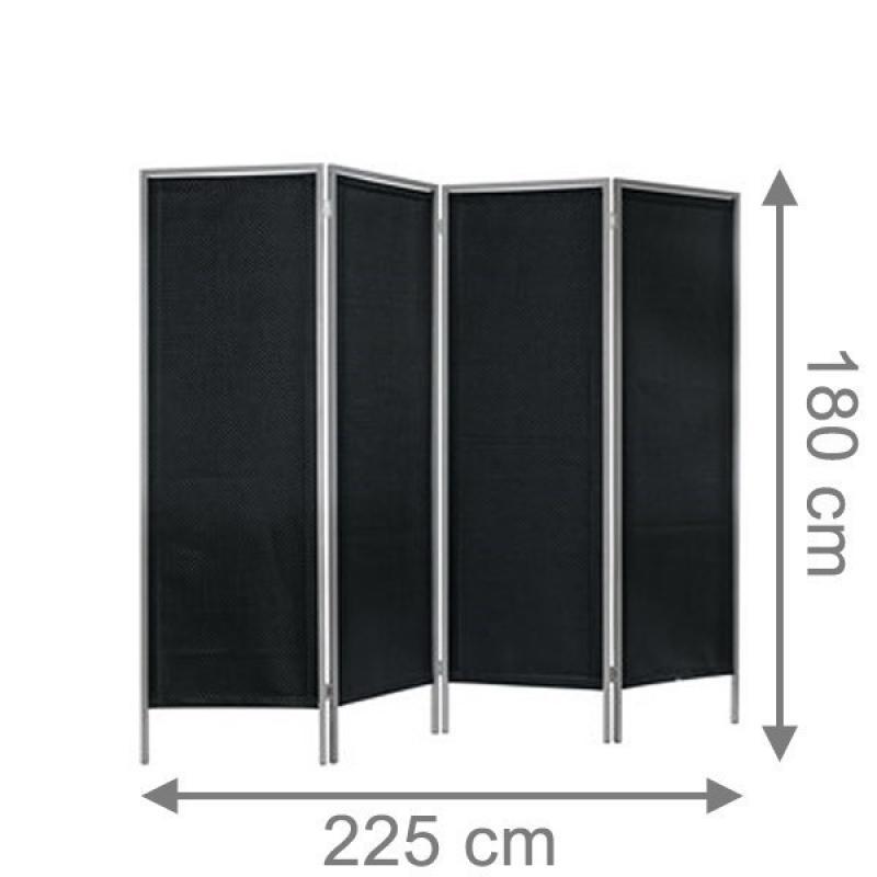 TraumGarten Paravent Weave LÜX anthrazit - 225 x 180 cm