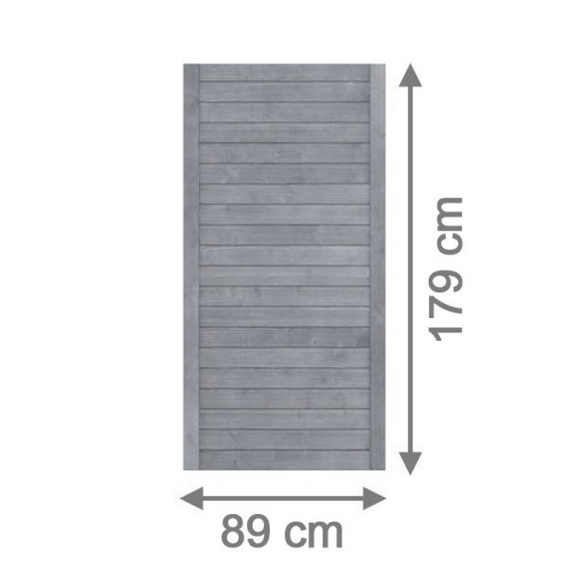 TraumGarten Sichtschutzzaun Neo Rechteck grau lasiert - 89 x 179 cm