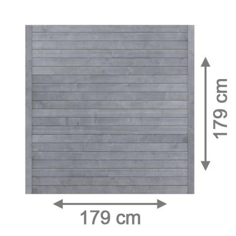 TraumGarten Sichtschutzzaun Neo Rechteck grau lasiert - 179 x 179 cm