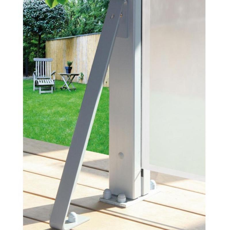 bauhaus sichtschutz aluminium kreatif von zu hause. Black Bedroom Furniture Sets. Home Design Ideas