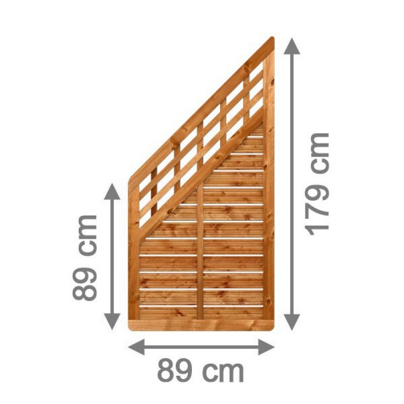 br gmann sichtschutzzaun galant anschluss mit gitter braun lasiert 89 x 179 auf 89 cm. Black Bedroom Furniture Sets. Home Design Ideas