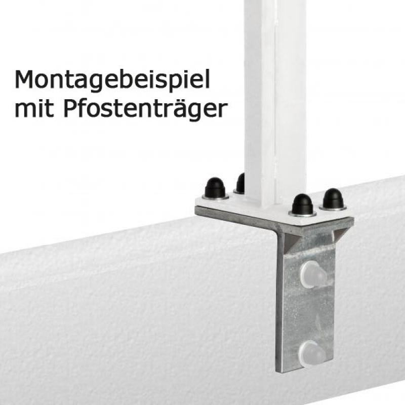 TraumGarten Adapter für L-Stein für Aufschraubanker Set feuerverzinkt - 16 x 8 x 16 cm