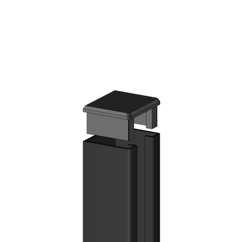 TraumGarten U-Steckprofil System Set anthrazit - 3 x 4 x 238 cm