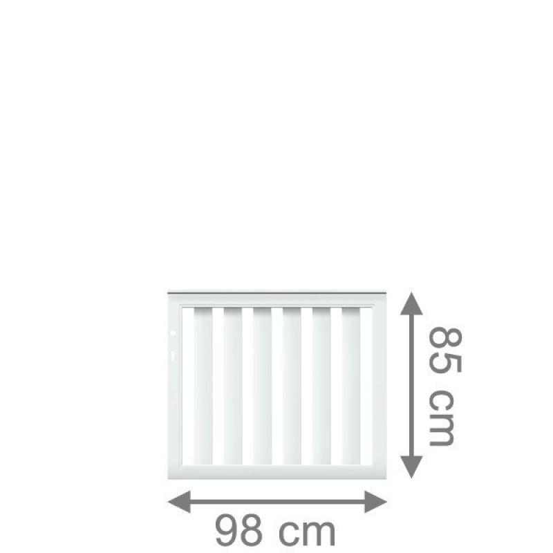 TraumGarten Vorgartenzaun Longlife Cleo Einzeltor DIN LI/RE weiß - 98 x 85 cm