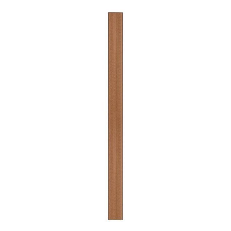 TraumGarten Zaunpfosten WPC mit Metallkern braun - 8,4 x 8,4 x 100 cm