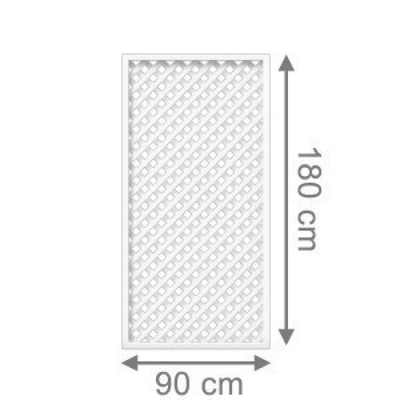 TraumGarten Sichtschutzzaun Longlife Romo weiß - Maßanfertigung für Höhe 164-180 cm und Breite 91 - 179 cm