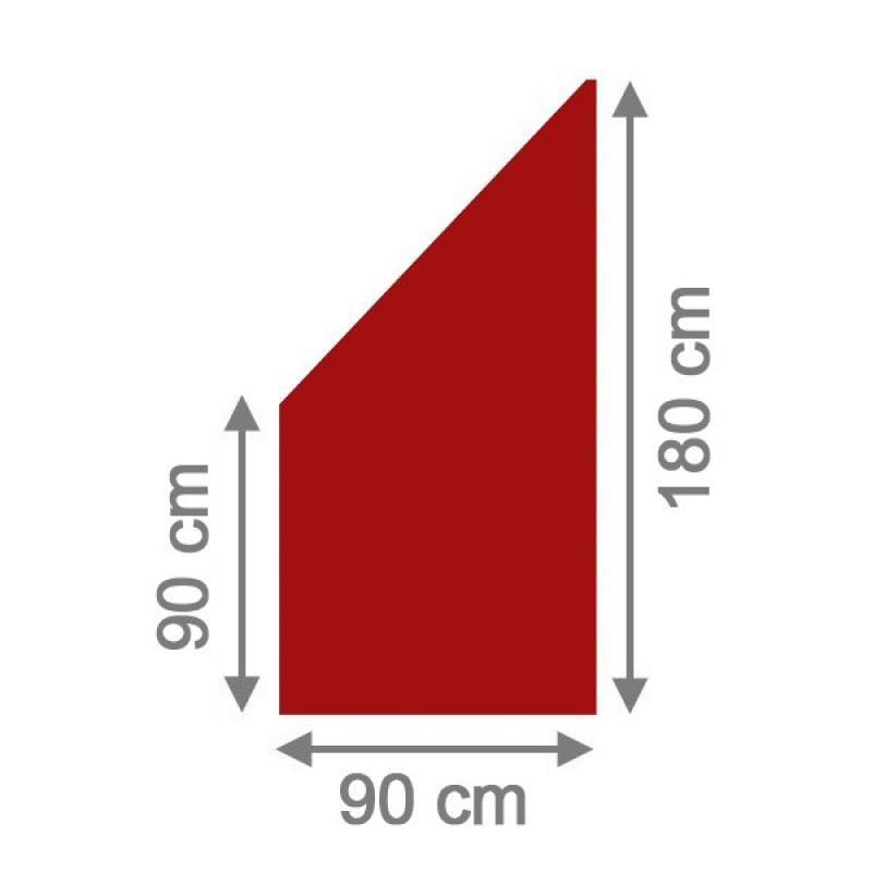 Brügmann Sichtschutzzaun SYSTEM BOARD Anschluss rot - 90 x 180/90 x ...