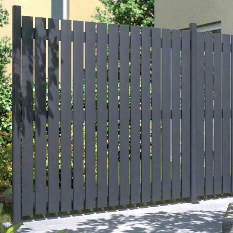 den passenden zaun zum grundstück - garden blog. metall teichzaun ... - Gartenzaun Metall Anthrazit