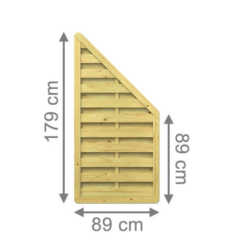 TraumGarten Sichtschutzzaun XL Anschluss kdi - 89 x 179 auf 89 cm