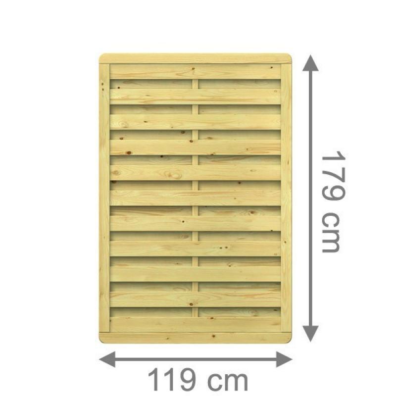 TraumGarten Sichtschutzzaun XL Rechteck kdi - 117 x 179 cm