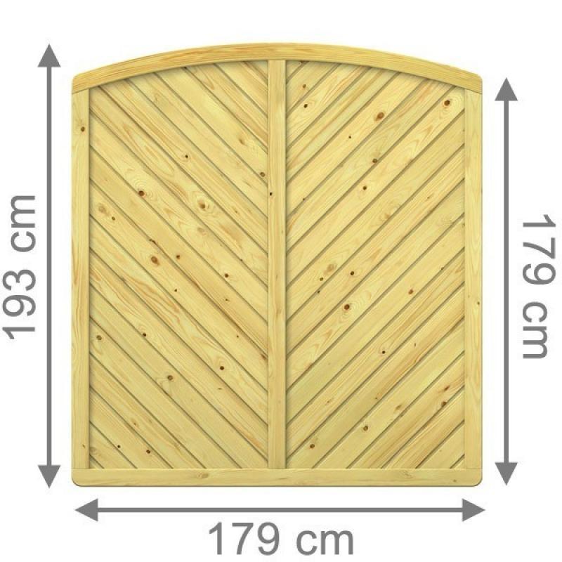sichtschutzzaun gada – gartenzaun aus fichtenholz,