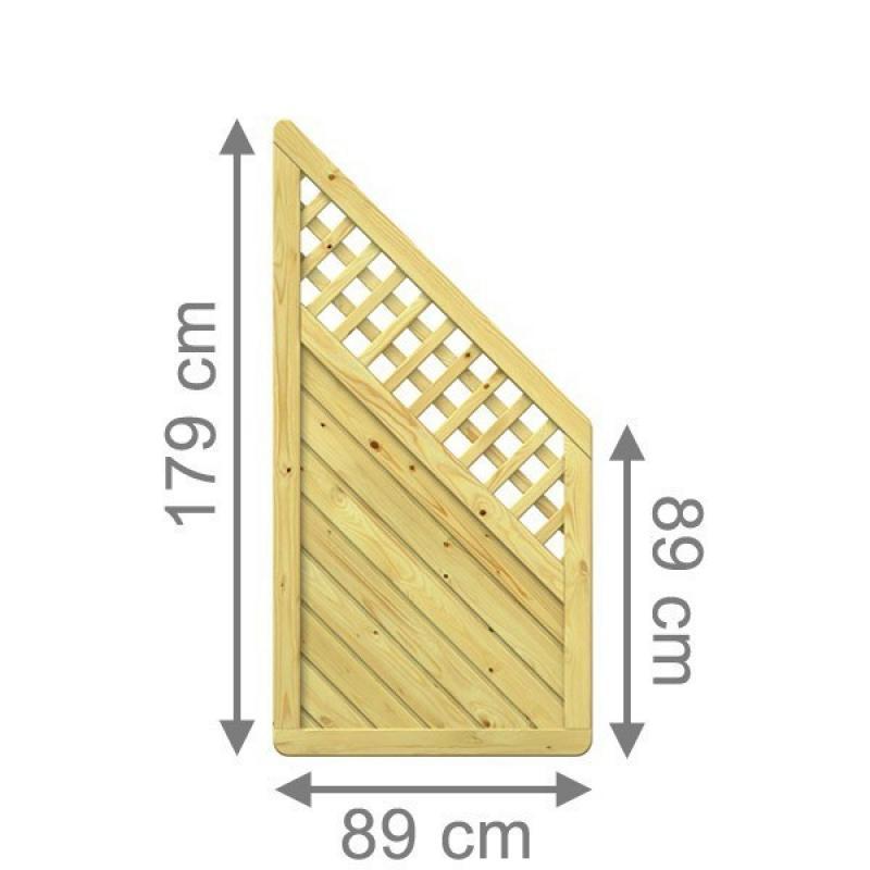 br gmann sichtschutzzaun gada 89 x 179 auf 89 cm anschluss mit gitter. Black Bedroom Furniture Sets. Home Design Ideas