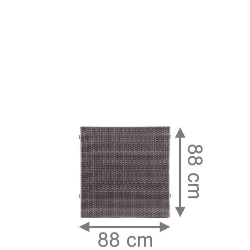 TraumGarten Sichtschutzzaun Weave Rechteck anthrazit - 88 x 88 cm