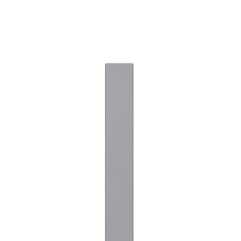 Top Zaunpfosten WPC grau - 8,4 x 8,4 x 200 cm BY22