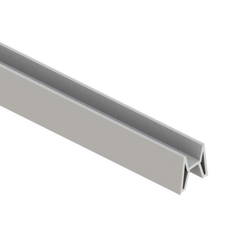 TraumGarten Adapter für System Dekorprofil silber - 180 x 2 x 2 cm
