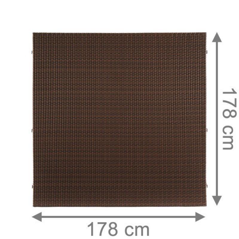 TraumGarten Sichtschutzzaun Weave Rechteck mocca - 178 x 178 cm