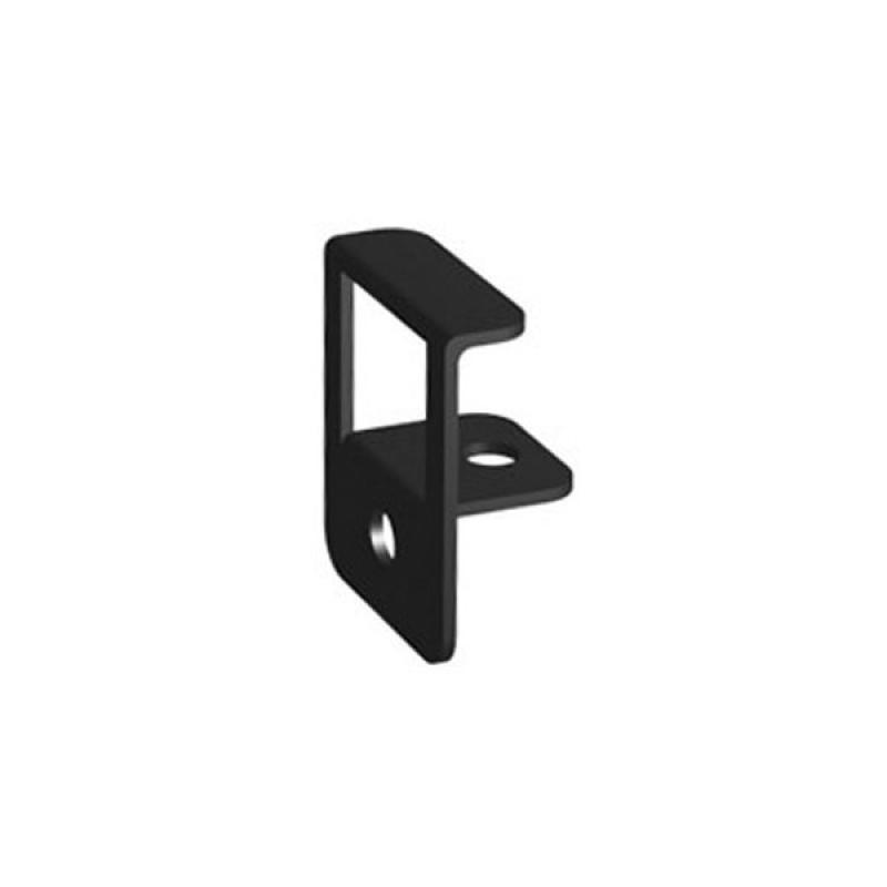 TraumGarten Abschlussclips DreamDeck 25er-Set schwarz - 2,5 x 2 x 1,2 cm