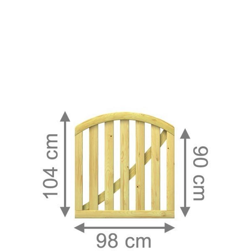 br gmann vorgartenzaun karlo tor rund kdi 98 x 90 104 cm. Black Bedroom Furniture Sets. Home Design Ideas
