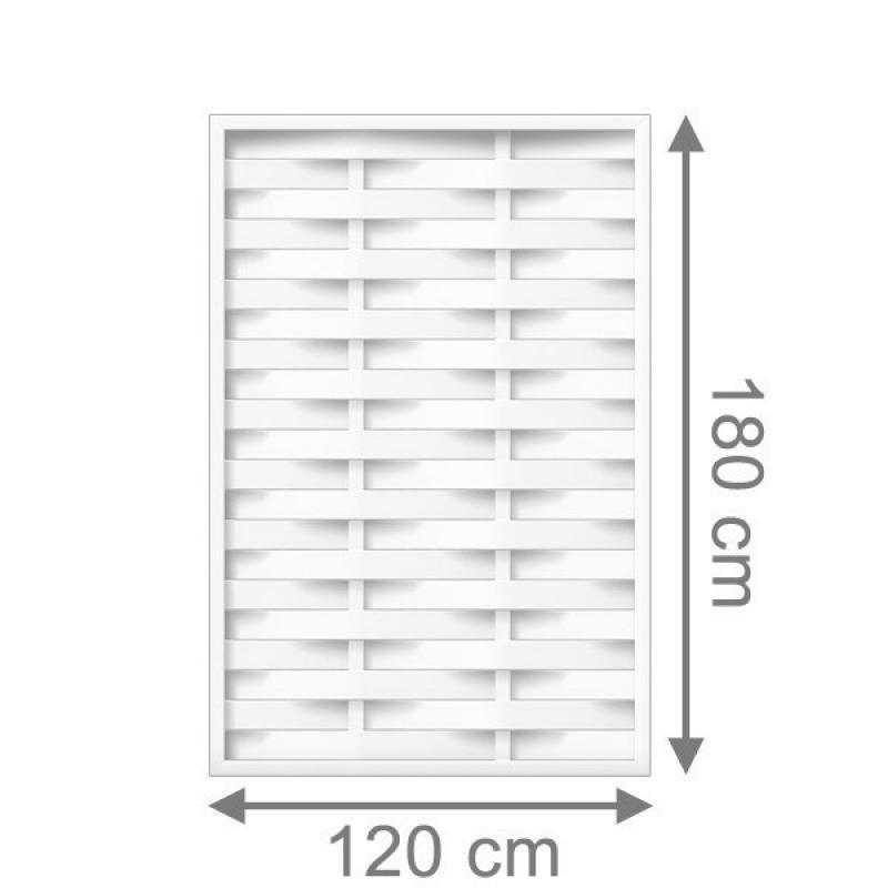 TraumGarten Sichtschutzzaun Longlife Romo Rechteck weiß - 120 x 180 cm