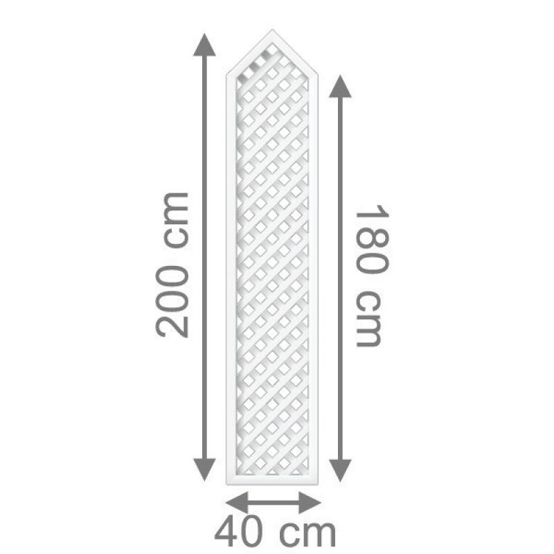 Top Brügmann Rankgitter Longlife Rechteck mit Spitze weiß - 40 x 180  BY22