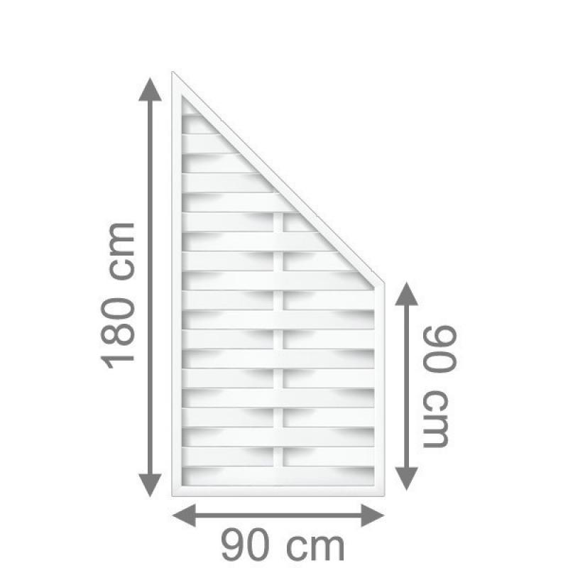 br gmann sichtschutzzaun longlife romo anschluss wei 90 x 180 auf 90 cm. Black Bedroom Furniture Sets. Home Design Ideas