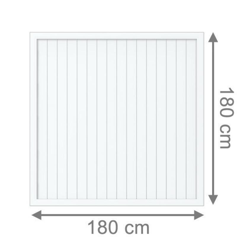 TraumGarten Sichtschutzzaun Longlife Riva Rechteck weiß - 180 x 180 cm