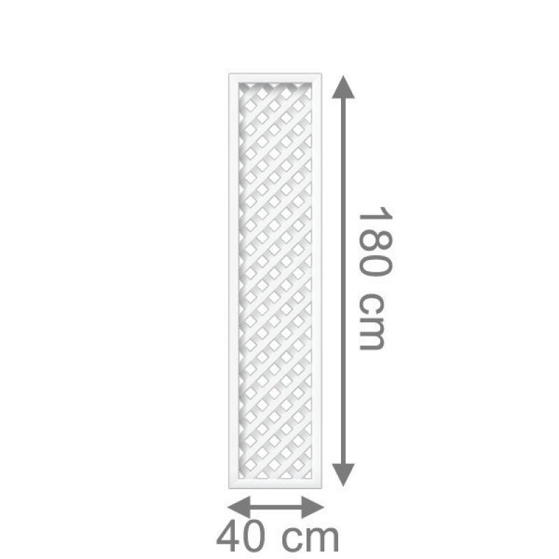 TraumGarten Rankgitter Longlife Rechteck weiß - 40 x 180 cm