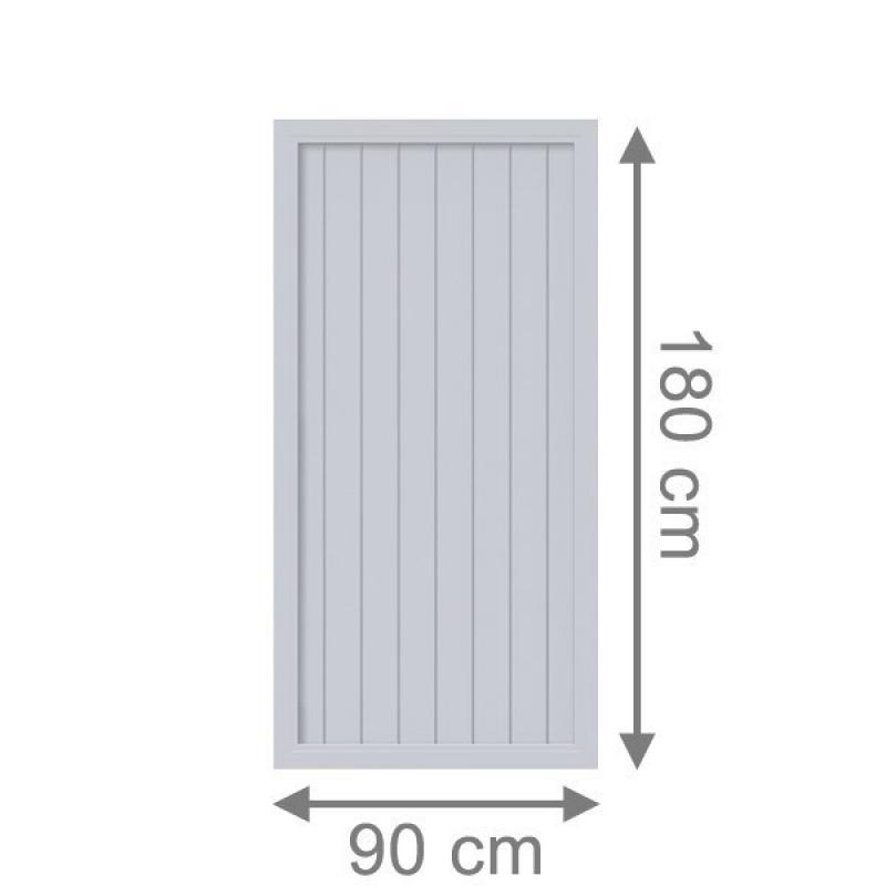 TraumGarten Sichtschutzzaun Longlife Riva Rechteck grau - 90 x 180 cm