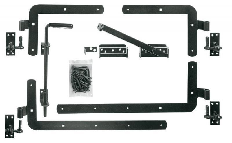 TraumGarten Beschlagsatz silber beschichtet für Doppeltor Raja Hartholz / Karlo