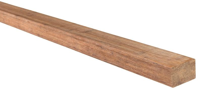 aMbooo Terrassendielen U-Lattung Bambus Farbe Coffee - Maße: 2200x40x60
