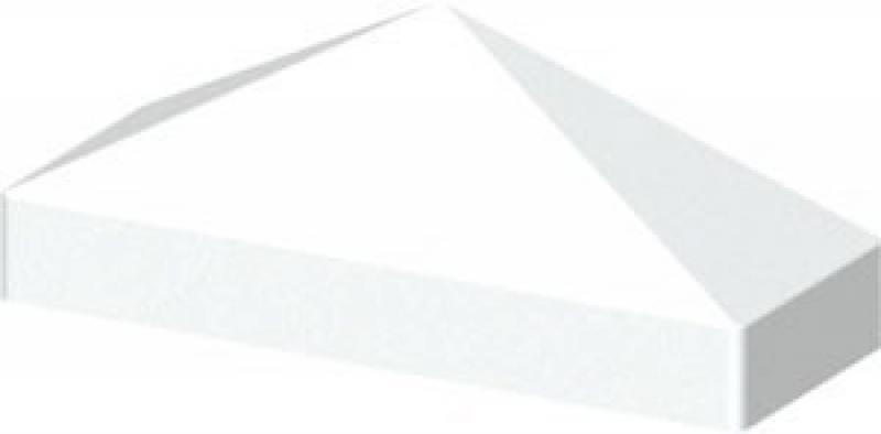 TraumGarten Profilaufsatz Set Cara Pyramide weiß - 3,4 x 8,5 x 3,1 cm