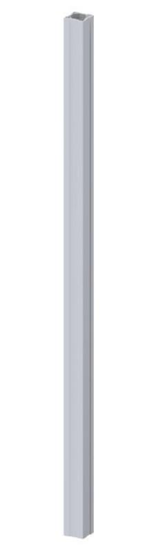 TraumGarten Zaunpfosten Longlife grau - 8 x 8 x 195 cm