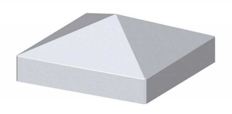 TraumGarten Pfostenkappe Longlife grau Pyramide - 8 x 8 cm