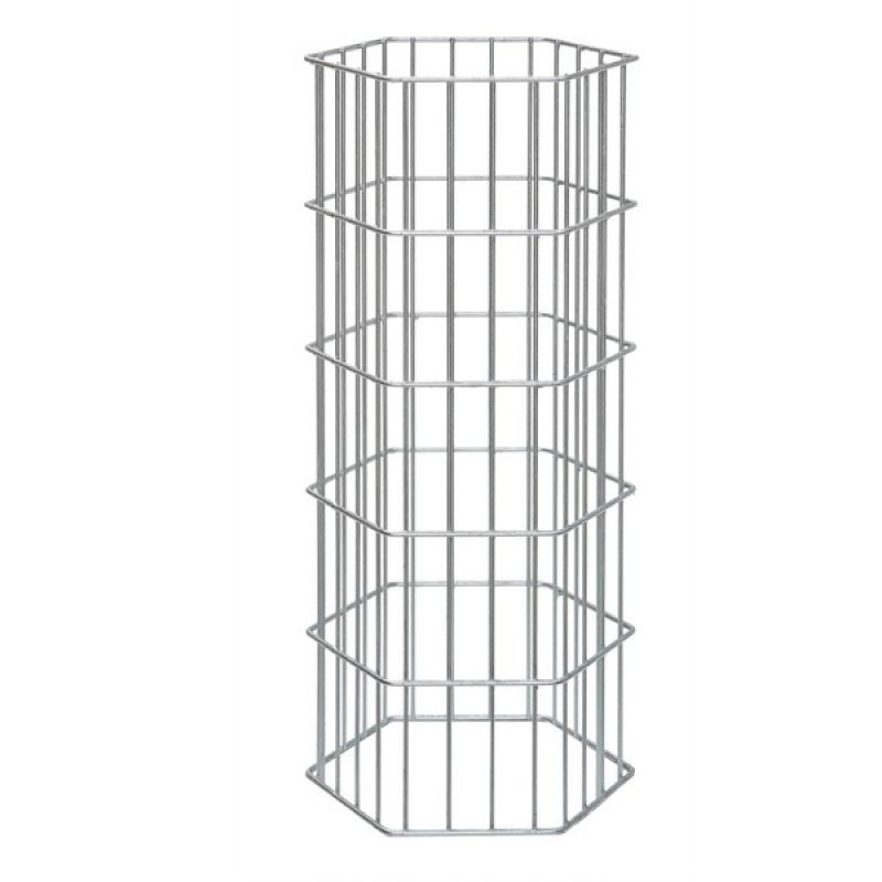Gabionen-Zaunsystem AOS ONYX - Zink - Höhe: 2000 mm