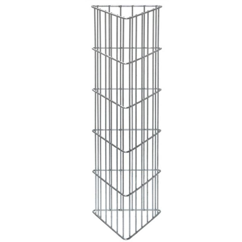Gabionen-Zaunsystem AOS TOPAS - Zink - Höhe: 1000 mm