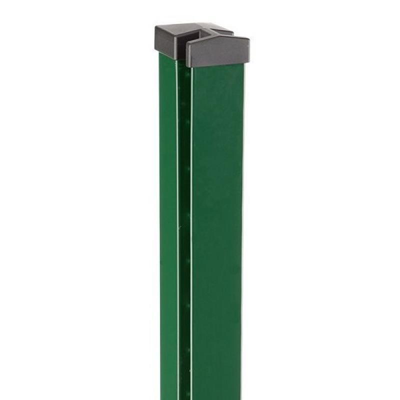 Doppelstabgitterzaun Zaunpfosten Typ HP-MO 70x40x2 RAL 6005 - Länge: 2000 mm