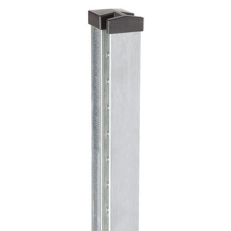 Doppelstabgitterzaun Zaunpfosten Typ HP-MA 70x40x2 Feuerverzinkt - Länge: 2800 mm