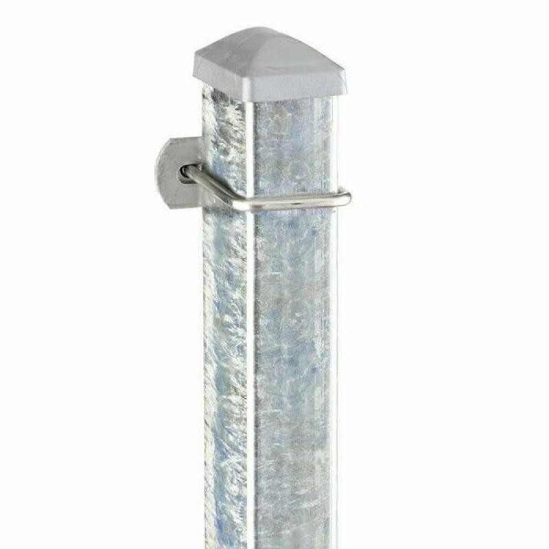Doppelstabgitterzaun Zaunpfosten Typ U 60x40x2 Feuerverzinkt - Länge: 2600 mm