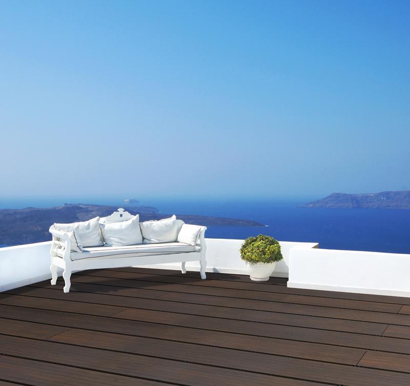 aMbooo Terrassendielen Bambus Stufe/Bank Farbe Espresso - Maße: 2200x290x42