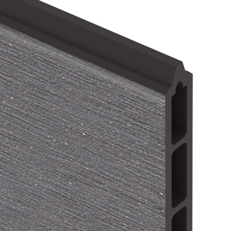 br gmann sichtschutzzaun system wpc xl einzelprofil anthrazit 30 x 2 1 x 178 cm. Black Bedroom Furniture Sets. Home Design Ideas