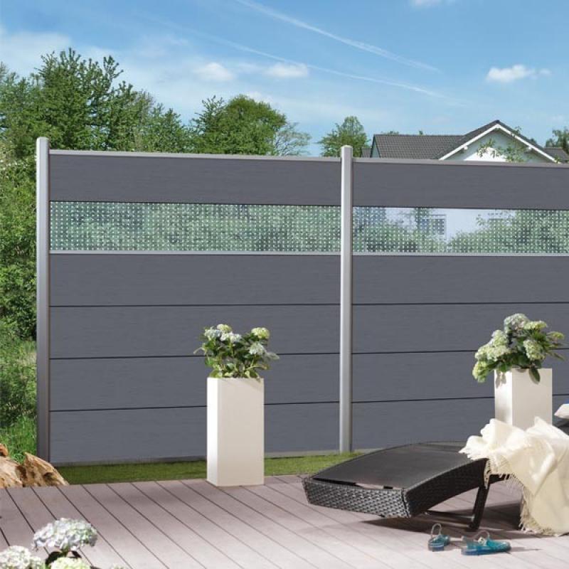 br gmann sichtschutzzaun system wpc xl einzelprofil. Black Bedroom Furniture Sets. Home Design Ideas