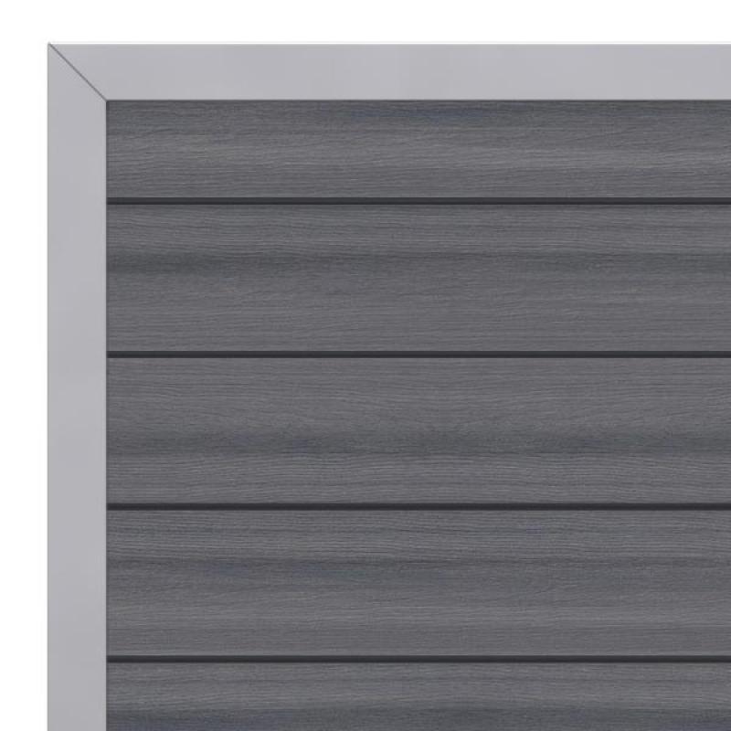 br gmann sichtschutzzaun system wpc platinum tor din links grau silber 98 x 180 cm. Black Bedroom Furniture Sets. Home Design Ideas