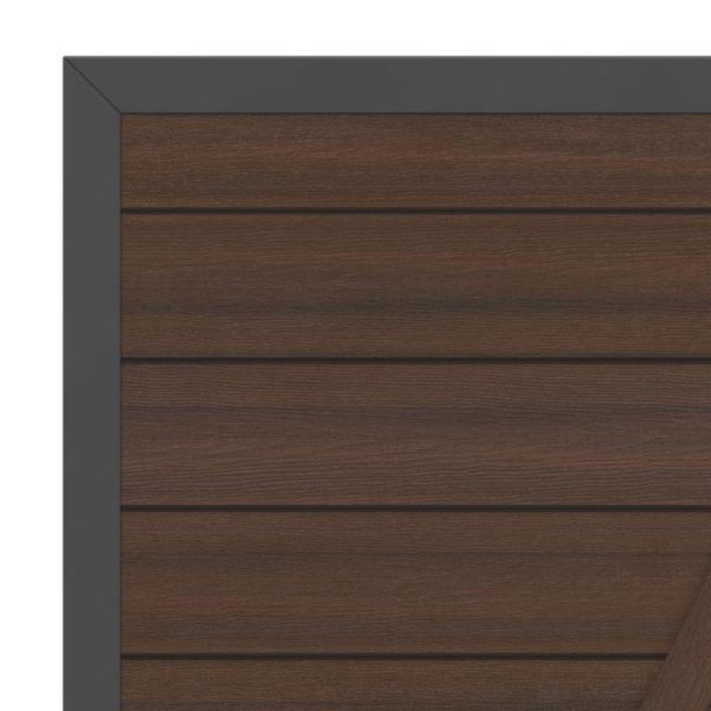 br gmann sichtschutzzaun system wpc platinum tor din links braun anthrazit 98 x 180 cm. Black Bedroom Furniture Sets. Home Design Ideas