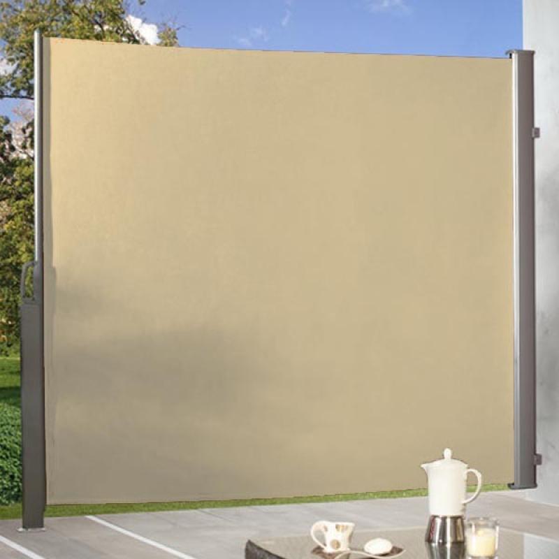 br gmann seitenmarkise zum ausziehen sand 180 x 350 cm. Black Bedroom Furniture Sets. Home Design Ideas